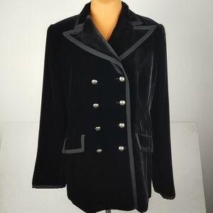Vintage ARMANI Collezoni Black Velvet Jacket